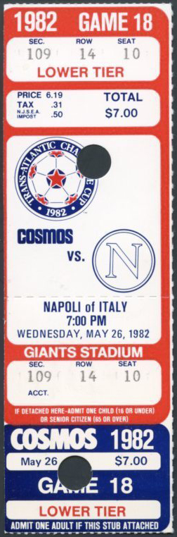Cosmos 1982-05-26 Napoli Tickets
